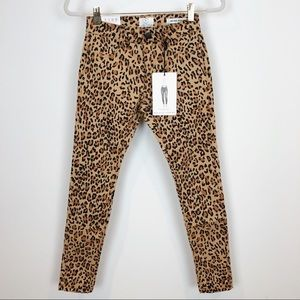 *NWT* COTTON ON LEOPARD MID RISE JEGGINGS SZ 4